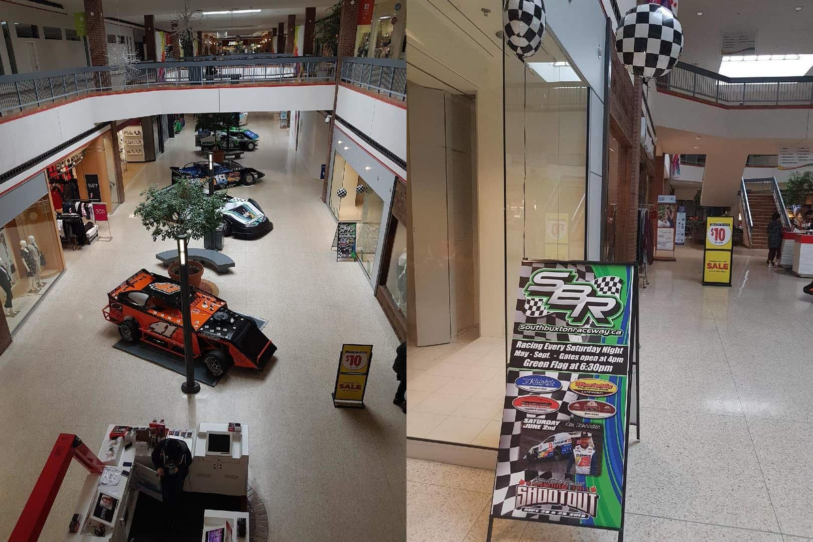 Car racing services inside the Downtown Chatham Centre