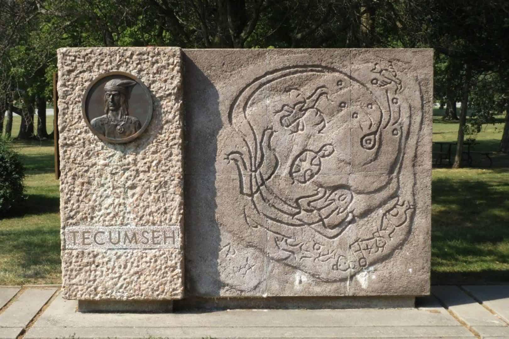 Stone Tecumseh Monument