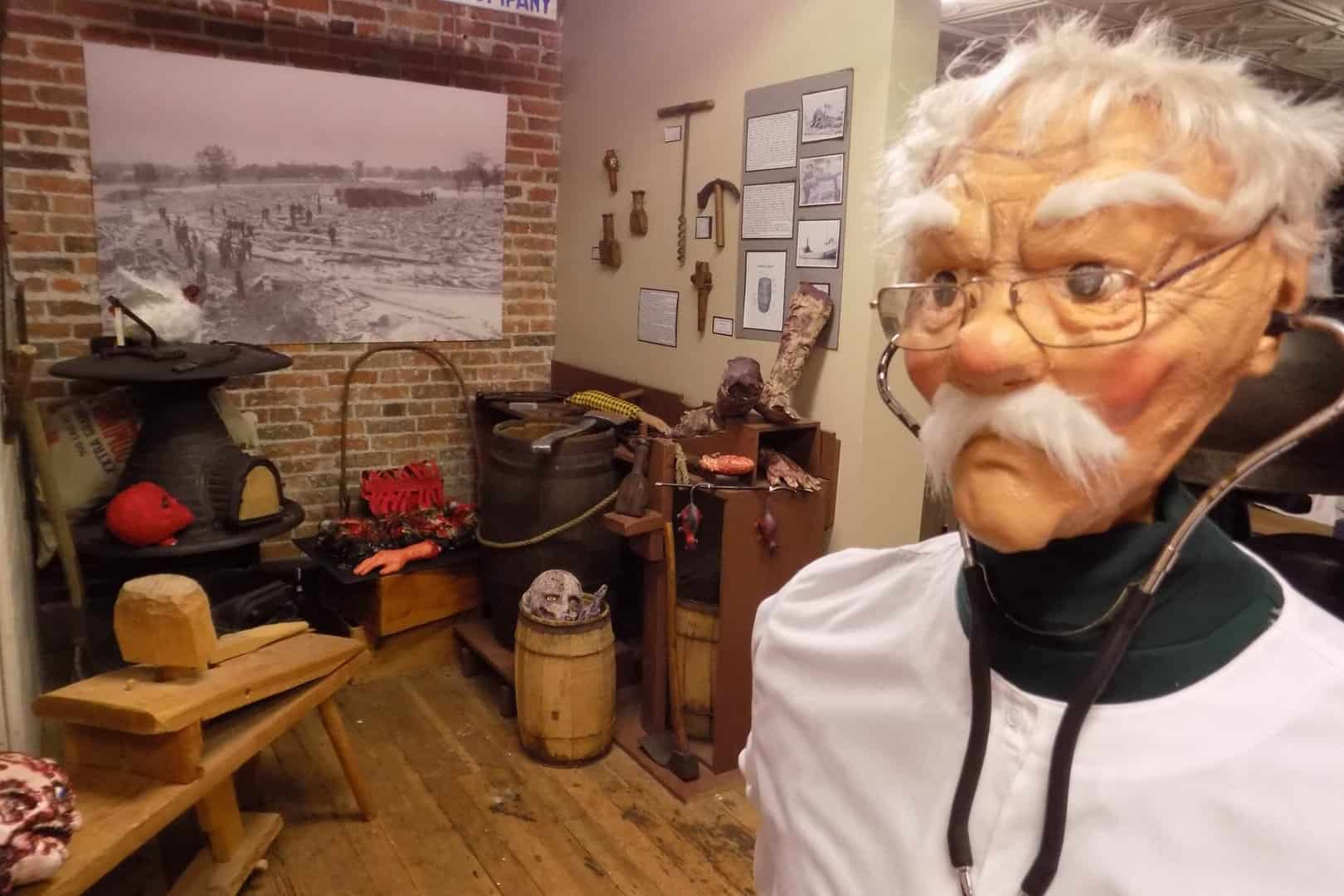"""Old everyday objects and exhibit item """"Doctor"""""""