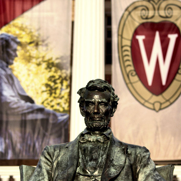 The Abraham Lincoln Monument at the University of Wisconsin-Madison